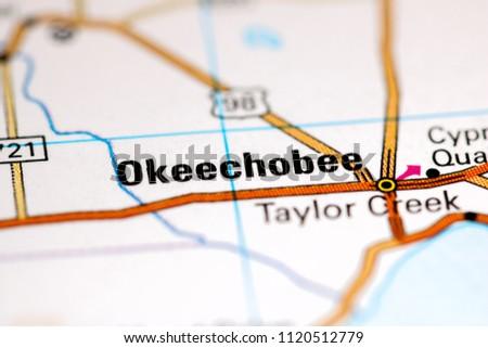 Okeechobee Florida Usa On Map Stock Photo Edit Now 1120512779