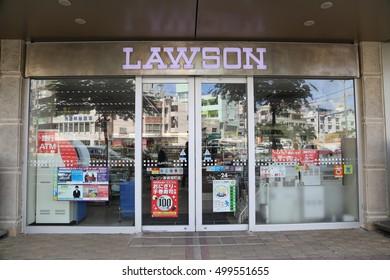 OKINAWA - 8 OCT: Lawson in Okinawa, Japan on 8 October 2016