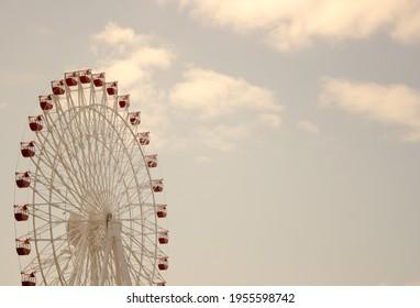 okinawa ferriswheel summer sky blue