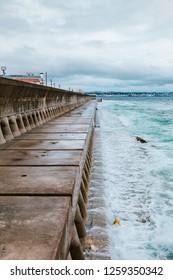 okinawa harbor sea in bad weather