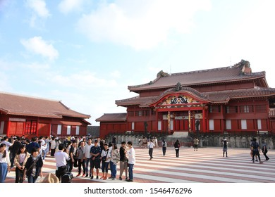 Okinawa, Japan – October 25, 2019: Shuri Castle in Naha City  Shuri Castle was the royal residence of the Ryukyu Kingdom and it is a UNESCO world heritage.