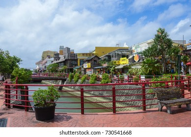 OKINAWA, JAPAN - September 27, 2016: American village Okinawa, was originally intended for US military base. Now become a major commercial and shopping area.