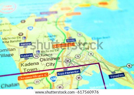 Okinawa Map Japan Stock Photo Edit Now 617560976 Shutterstock