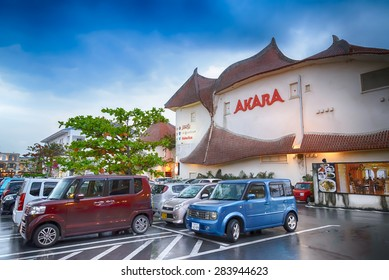 OKINAWA- MAY 8: American Village on MAY 8, 2015 in Okinawa, Japan. American Village originally intended for the U.S. military base near the families of soldiers, has now become a commercial area.