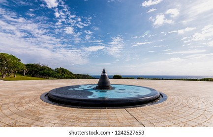Okinawa Prefecture /Japan - February 28, 2018: The Okinawa Prefectural Peace Memorial Museum, dedicated to the victims of the Battle of Okinawa (April-June 1945)
