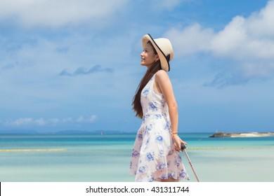 Okinawa sea and young women?