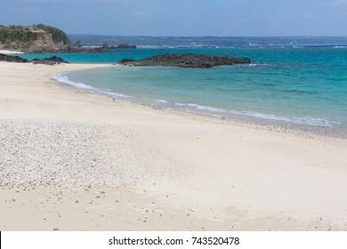 Okinawa's midsummer beach