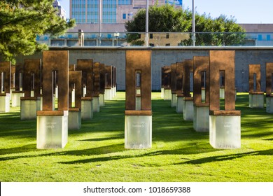 OKLAHOMA CITY, OK, USA - October 7, 2018: The Oklahoma City National Memorial was created to remember those that lost their lives due to the Oklahoma City bombing that occurred in 1995.