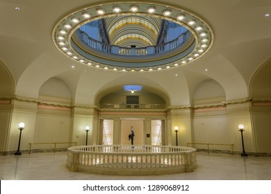 Oklahoma City, Oklahoma, United States of America - January 18, 2017. Interior view of the State Capitol of Oklahoma in Oklahoma City, OK.