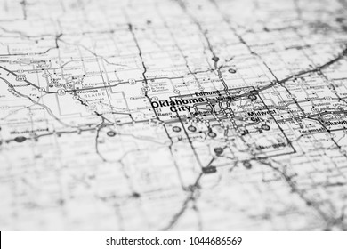 Oklahoma city, USA map background