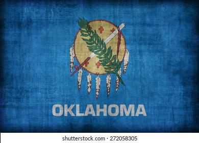 Oklahoma flag pattern, retro vintage style