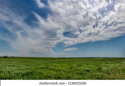 Oklahoma Summer Prairie Panorama