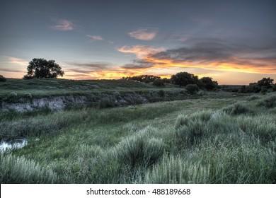 Oklahoma sunset, Sharps Creek
