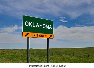 Oklahoma US Highway Exit Sign