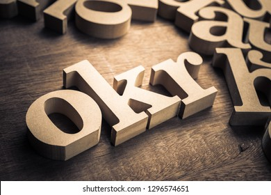OKR wood alphabet, abbreviation of Objective Key Results