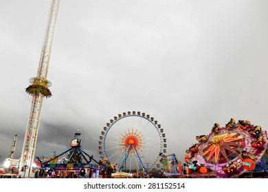Oktoberfest amusement park