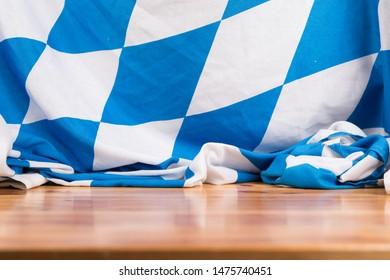Oktoberfest Bavaria Wood Flag Design. Creative Identic Oktoberfest Bavaria Wood Flag Design