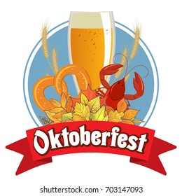 Oktoberfest illustration for the German autumn beer festival.