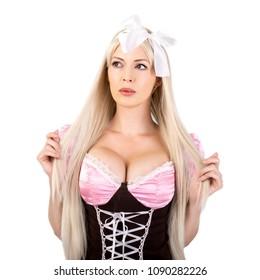 oktoberfest woman with big breast