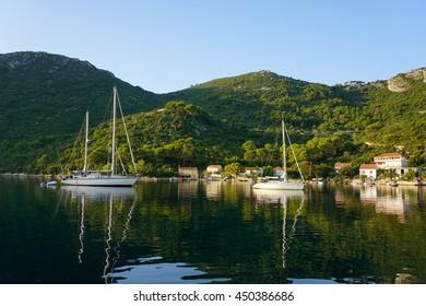 Okuklje on the Island Mljet. Croatia