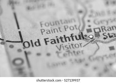Ol Faithful. Wyoming. USA