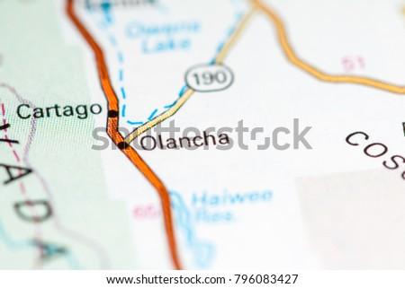 Olancha California USA On Map Stockfoto (Jetzt bearbeiten) 796083427 ...
