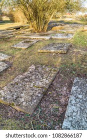 Oland, Sweden. Kalla old churchyard from the 12th century. Kalla old church is part of the cultural heritage and was in use up until 1888. Now a historical travel destination.