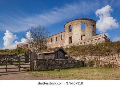 Oland, Sweden - Sep 5, 2015 : External View of Borgholm Castle, is one of the well preserved ancient ruins in Sweden.