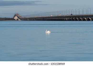 The Olandbridge - a landmark connecting the island Oland with mainland Sweden