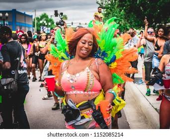 Olando, Florida / USA 05-27-2018: Orlando Carnival Downtown