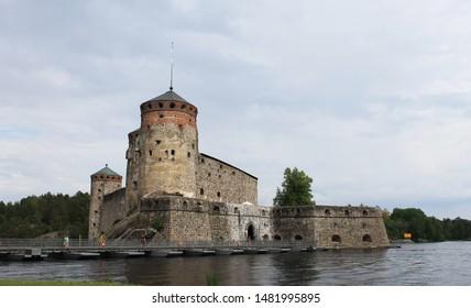 Olavinlinna is a 15th-century three-tower castle located in Savonlinna, Finland.