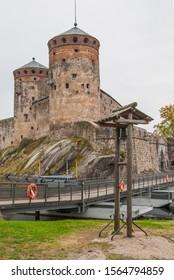 Olavinlinna castle in Savonlinna Finland. Olavinlinna Castle - Venue of the Opera Festival in Finland