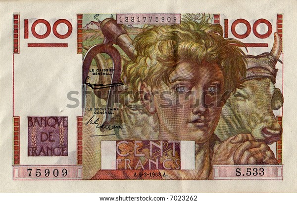 Old 100 Franc Note