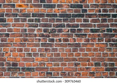 Old 16th century brick wall