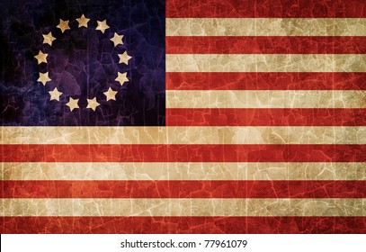 Old 1777 flag of USA, USA flag for USA Independence Day, USA Betsy Ross flag