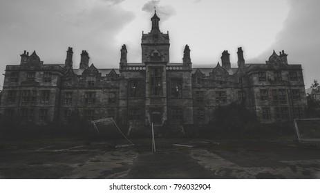 Old 1800's abandoned hospital.