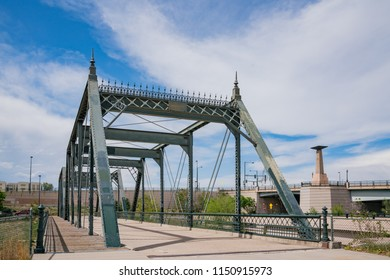 The old 19th Street Bridge at Denver, Colorado