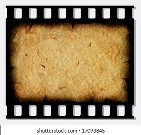 Old 35 mm movie Film reel