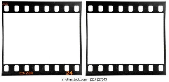 old 35mm dia film frame or strip on white with and without frame edge numbers, just blend in your own content to make it look vintage