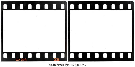 Old 35mm film frame or dia strip on white with and without the frame edge numbers, just place your picture here