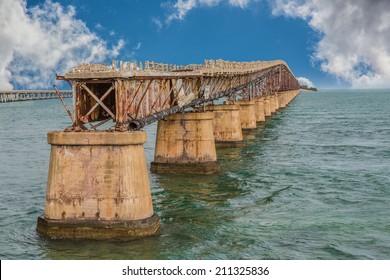 Old 7 mile bridge in Florida