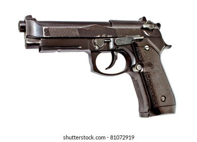 Old 9 mm automatic hand gun