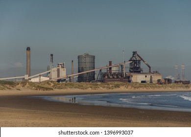 Old Abandonded steel works, Redcar. North east coast of England.
