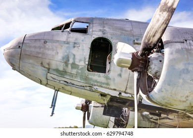 Old abandoned airplane