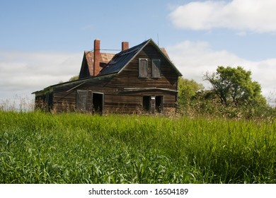 An old abandoned building in the country