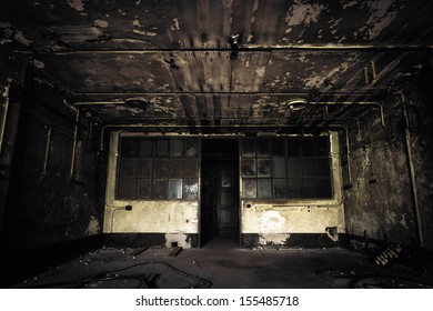 old abandoned building interior