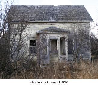 An old abandoned building in rural saskatchewan.