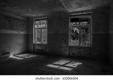 Old abandoned building of the Soviet Army in Germany