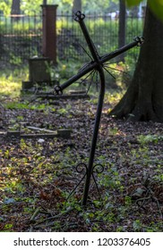 old abandoned cemetery