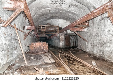 old abandoned coal mine tunnel